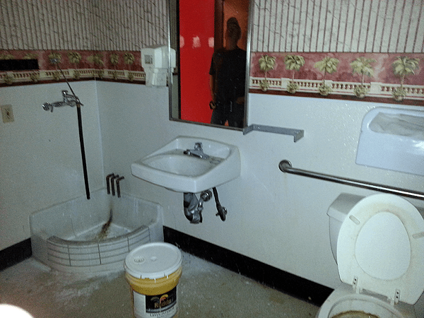 ... Plumbing Installed In Commercial Bathrooms