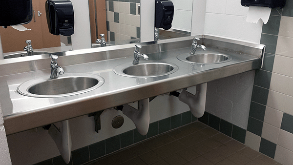 Plumbing Installed In Commercial Bathrooms ...